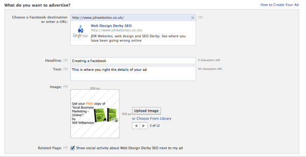 Facebook advertising - basic settings