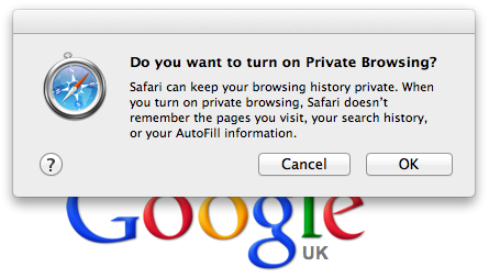 Private Browsing in Safari