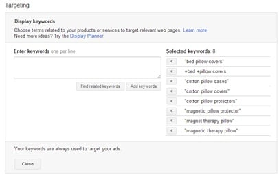Targeting_by_keyword