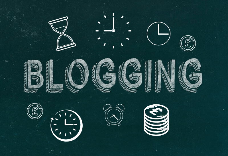 Blogging Graphic Showing Time & Money